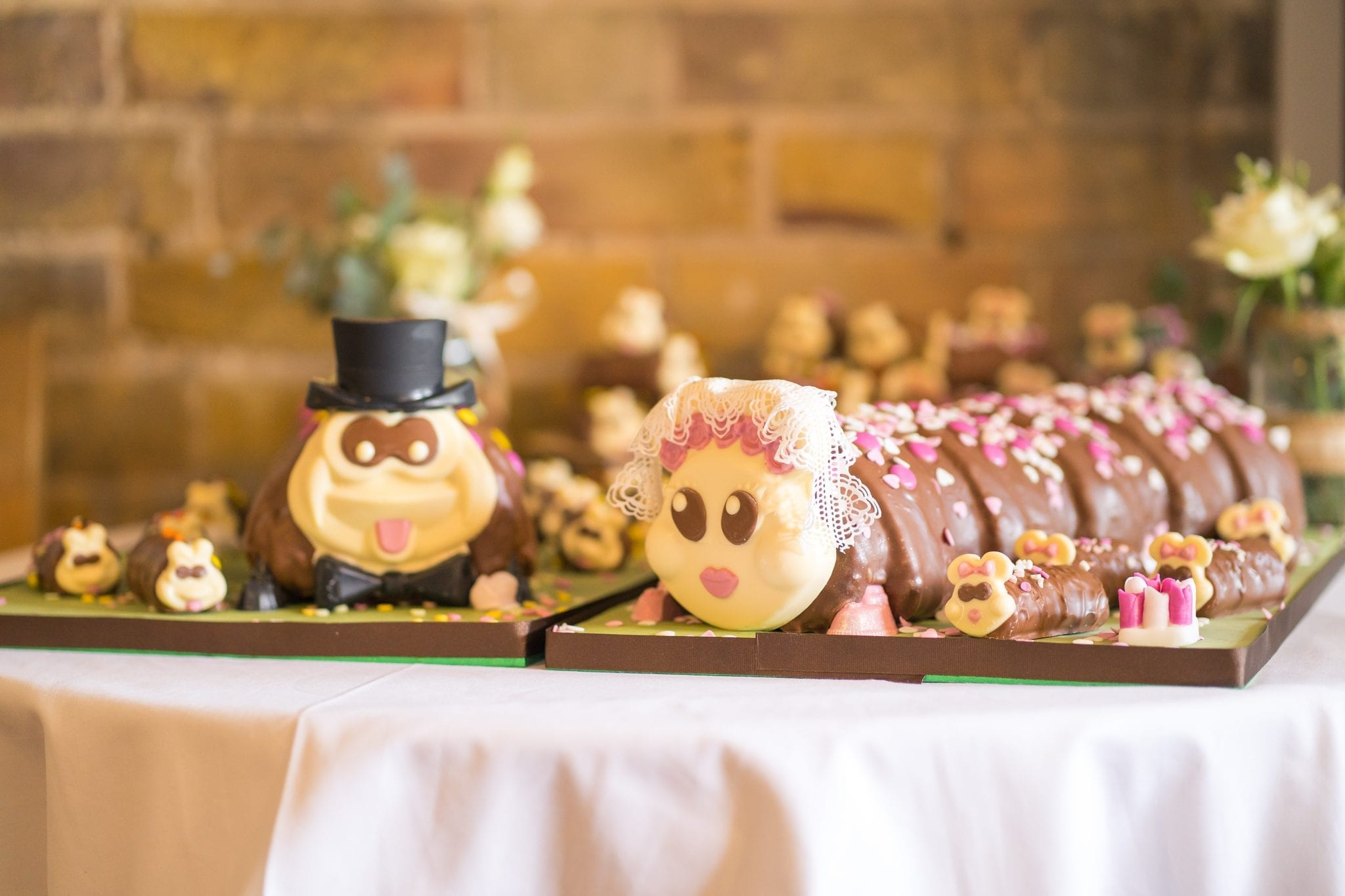 Wedding Cake - Contemporary Mr & Mrs Catepillar