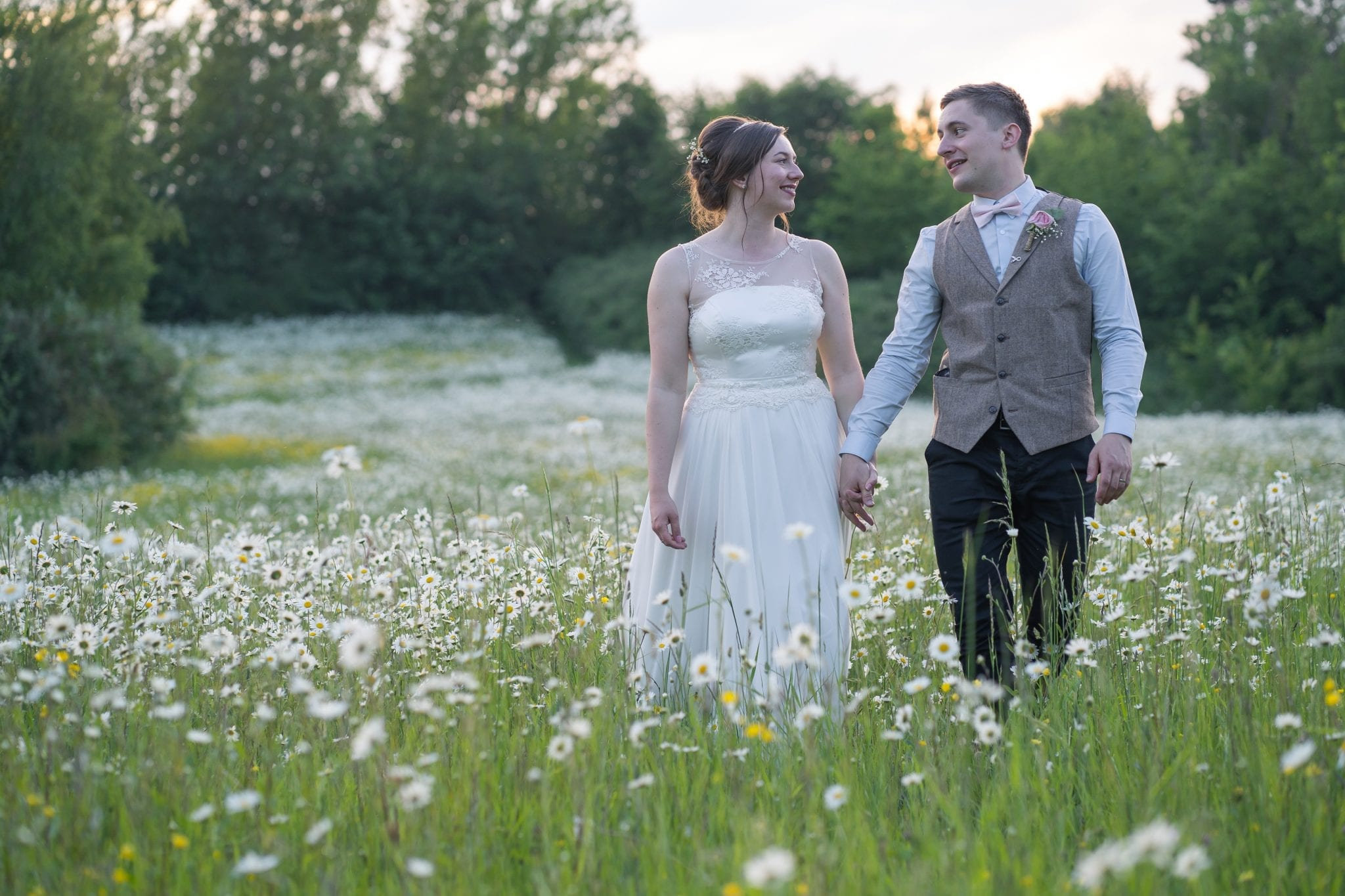 Wedding Couple in a Meadow