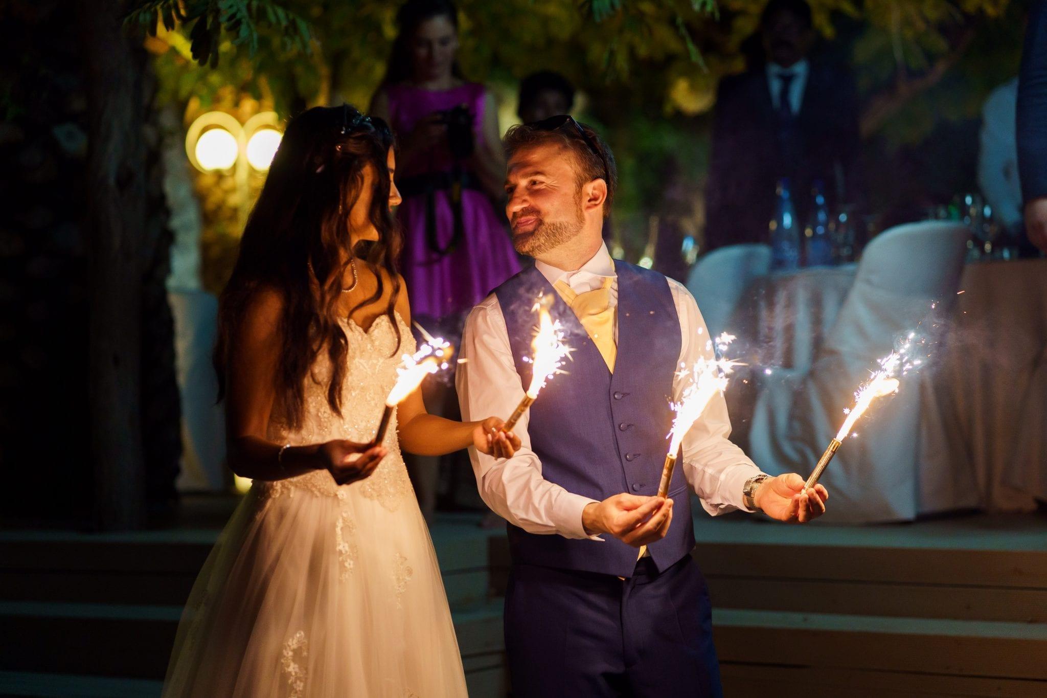 Documentary Wedding Photography - Sparklers