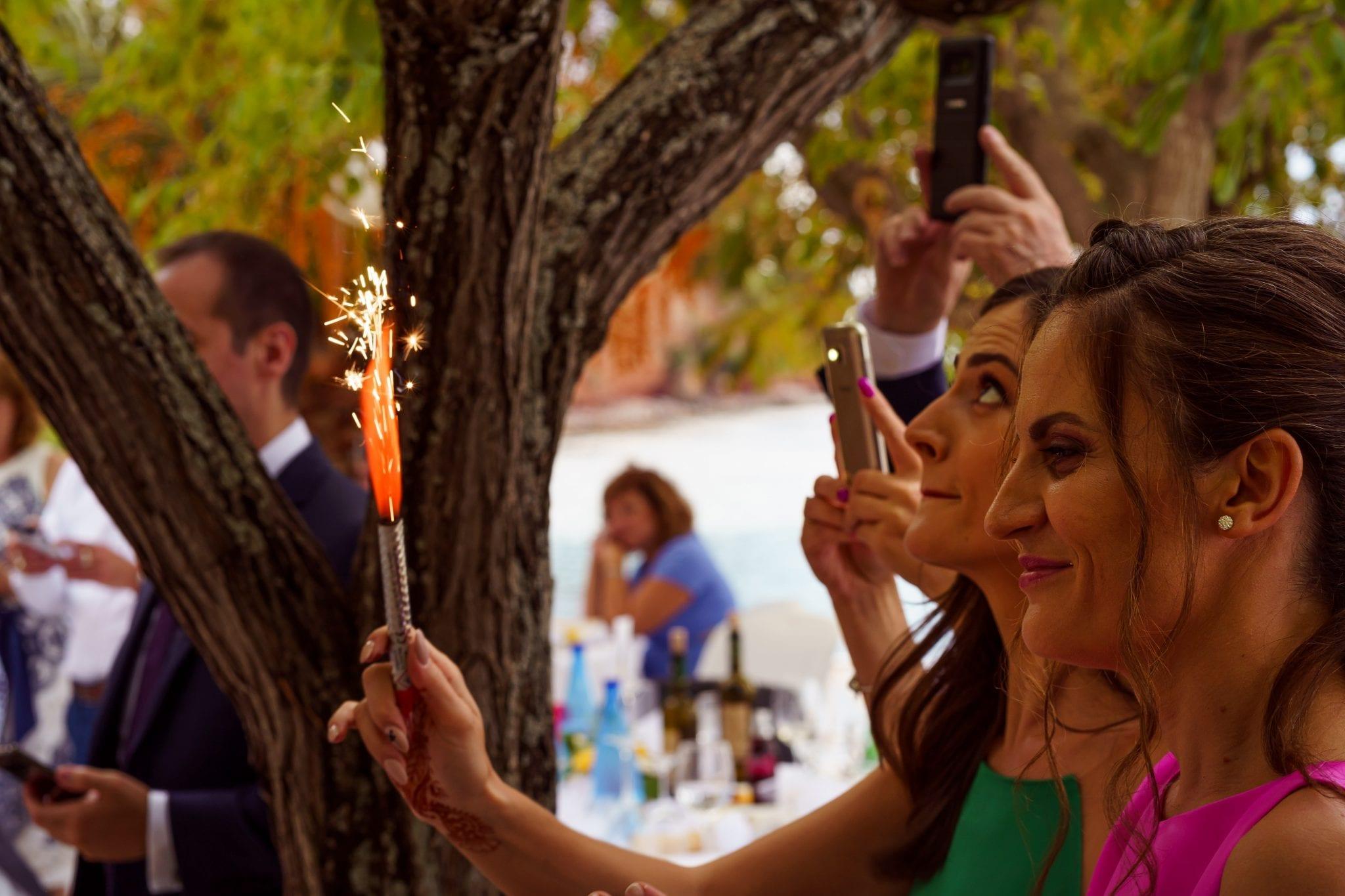 Destination Wedding Photography - Sparklers
