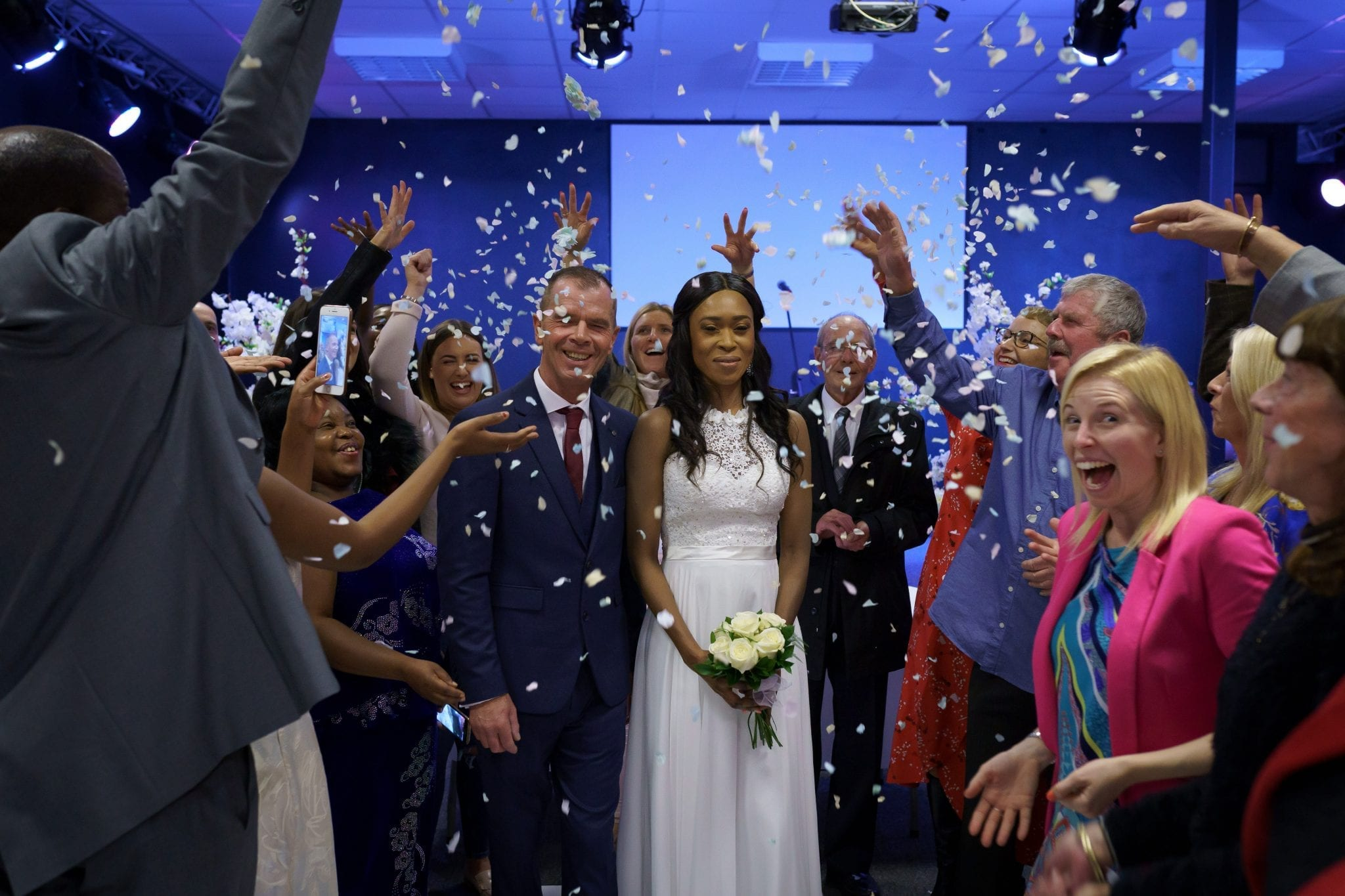 Documentary Wedding Photography - Confetti