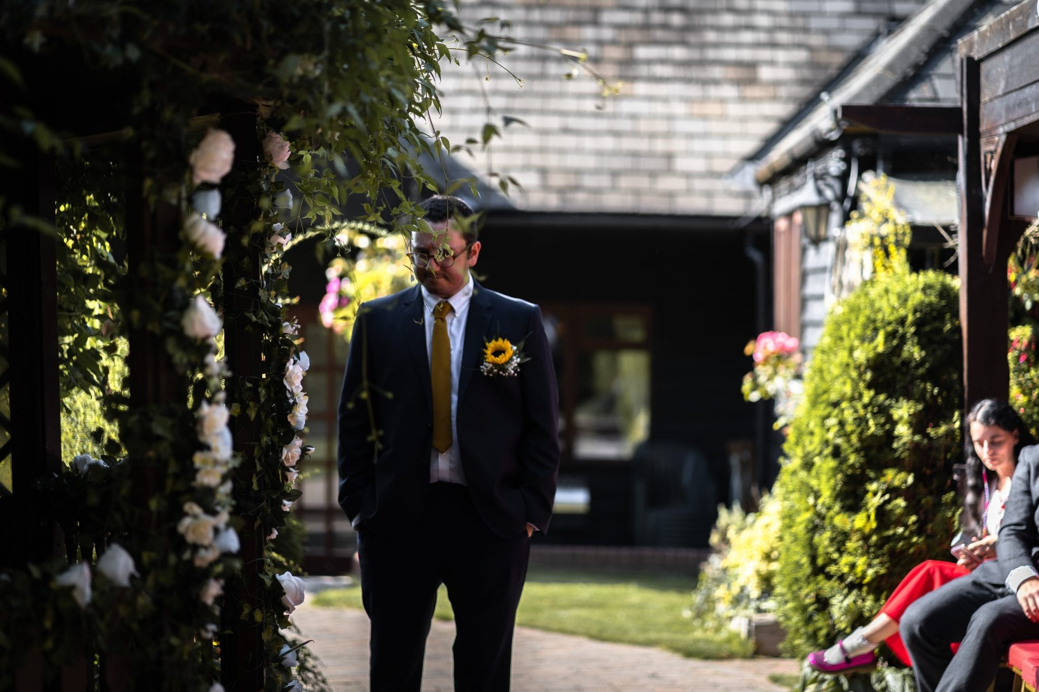 Documentary Wedding Photography - Groom Waiting