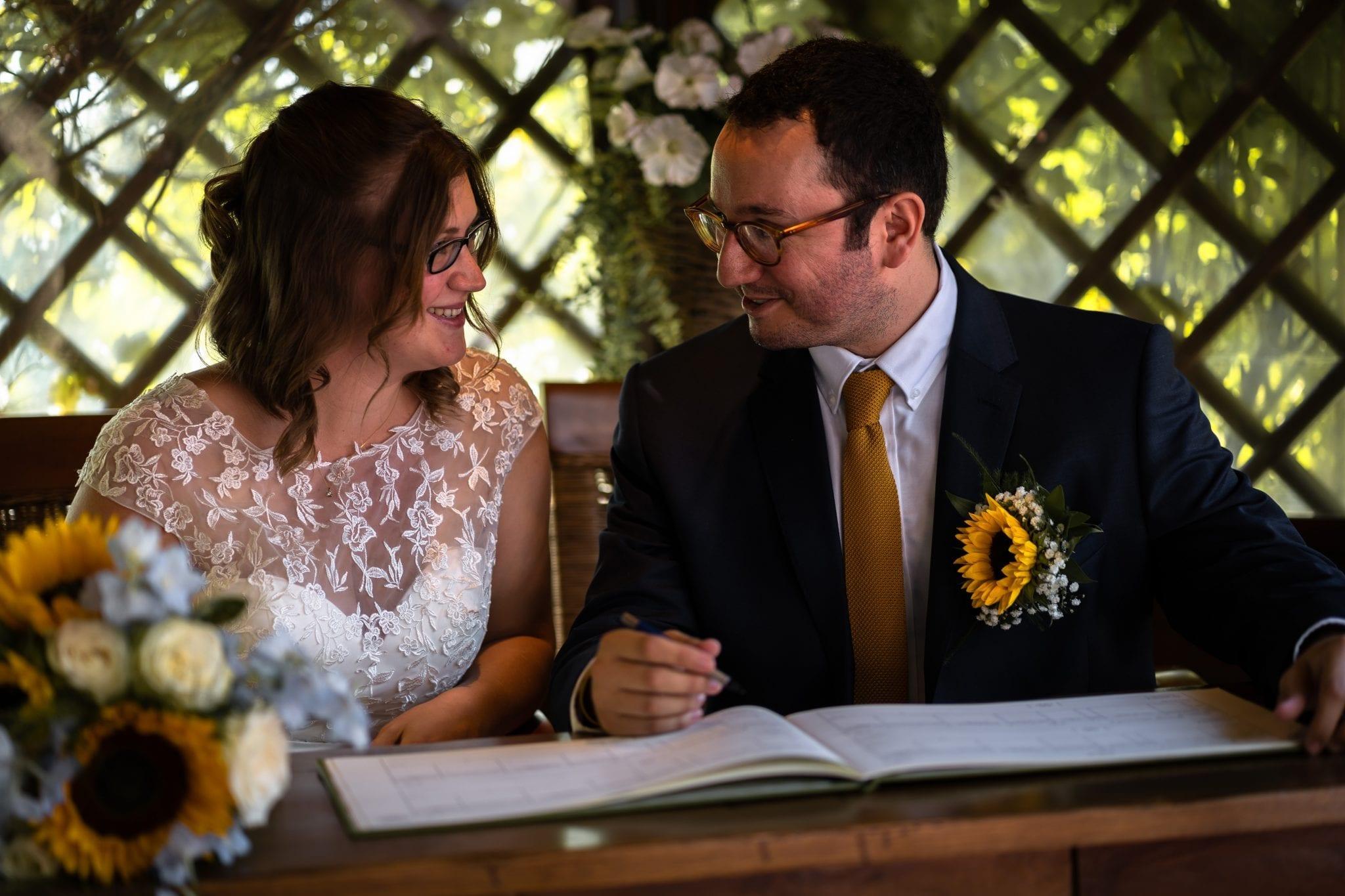 Documentary Wedding Photography - Register Signing